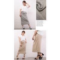 大きいサイズ レディース カットリブタイトスカート|clette-online|04