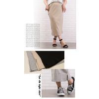 大きいサイズ レディース カットリブタイトスカート|clette-online|05