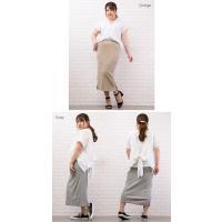 大きいサイズ レディース カットリブタイトスカート|clette-online|07