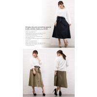 大きいサイズ レディース リボンベルト付トレンチスカート|clette-online|07