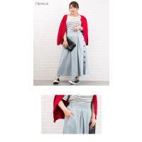大きいサイズ レディース サイドボタンデニムスカート clette-online 04