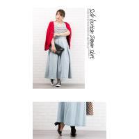大きいサイズ レディース サイドボタンデニムスカート clette-online 08