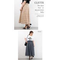 大きいサイズ レディース ウエストシャーリングチェック柄スカート|clette-online|07