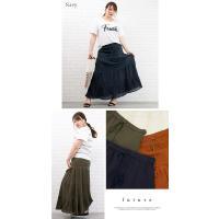 大きいサイズ レディース ティアードフレアロングスカート|clette-online|04