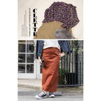 大きいサイズ レディース cletteオリジナル★ベイカーポケットロングスカート|clette-online|07