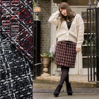 大きいサイズ レディース cletteオリジナル★ツイードコクーンスカート clette-online 02
