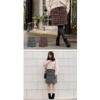 大きいサイズ レディース cletteオリジナル★ツイードコクーンスカート clette-online 06