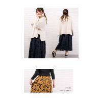大きいサイズ レディース フロッキー花柄フレアロングスカート|clette-online|07