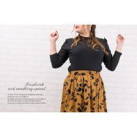 大きいサイズ レディース フロッキー花柄フレアロングスカート|clette-online|08