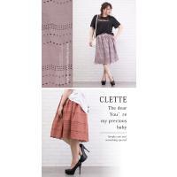 大きいサイズ レディース 裾スカラップレーススカート|clette-online|05