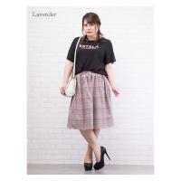 大きいサイズ レディース 裾スカラップレーススカート|clette-online|06