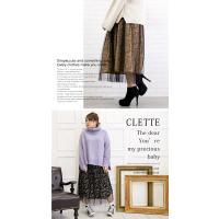大きいサイズ レディース プリーツチュール重ね花柄ロングスカート|clette-online|06