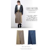 大きいサイズ レディース チェック柄配色ラップ風スカート|clette-online|03