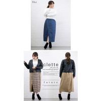 大きいサイズ レディース チェック柄配色ラップ風スカート|clette-online|05