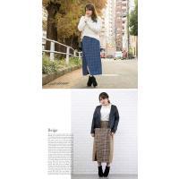 大きいサイズ レディース チェック柄配色ラップ風スカート|clette-online|06