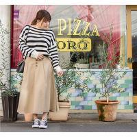 大きいサイズ レディース 配色ステッチフロント釦スカート clette-online 08