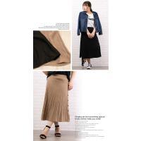大きいサイズ レディース サイド釦デザインニットスカート clette-online 06