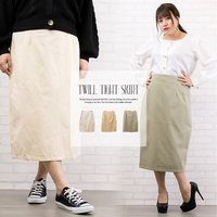 大きいサイズ レディース ツイルタイトスカート|clette-online|02