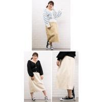 大きいサイズ レディース ツイルタイトスカート|clette-online|04