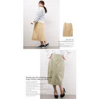 大きいサイズ レディース ツイルタイトスカート|clette-online|06