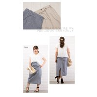大きいサイズ レディース ヒッコリータイトスカート|clette-online|05