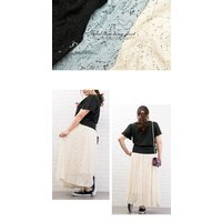 大きいサイズ レディース 総レースロングスカート clette-online 07