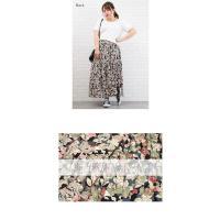 大きいサイズ レディース ウエストゴム花柄ロングスカート|clette-online|05