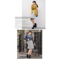 大きいサイズ レディース MIXツイード台形スカート|clette-online|05