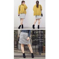 大きいサイズ レディース MIXツイード台形スカート|clette-online|06