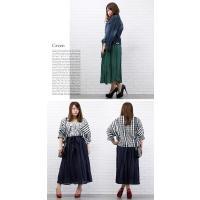大きいサイズ レディース ウエストリボン付ロングスカート|clette-online|05
