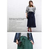 大きいサイズ レディース ウエストリボン付ロングスカート|clette-online|07