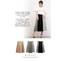 大きいサイズ レディース チェック配色トレンチスカート|clette-online|03