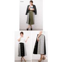 大きいサイズ レディース チェック配色トレンチスカート|clette-online|04