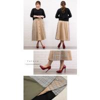 大きいサイズ レディース チェック配色トレンチスカート|clette-online|05