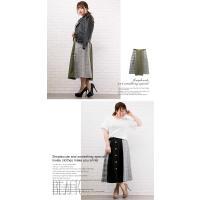 大きいサイズ レディース チェック配色トレンチスカート|clette-online|06