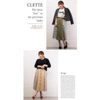 大きいサイズ レディース チェック配色トレンチスカート|clette-online|07