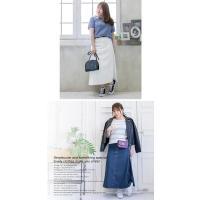 大きいサイズ レディース cletteオリジナル★サイドタックロングスカート clette-online 07