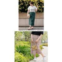 大きいサイズ レディース cletteオリジナル★サイドボタンナロースカート|clette-online|05