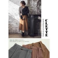 大きいサイズ レディース cletteオリジナル☆ベルト付サイドポケットスカート|clette-online|06