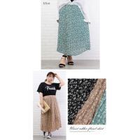 大きいサイズ レディース ウエストゴム花柄スカート|clette-online|04