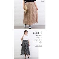 大きいサイズ レディース ウエストゴム花柄スカート|clette-online|06
