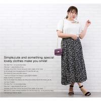 大きいサイズ レディース ウエストゴム花柄スカート|clette-online|08