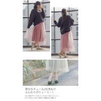 大きいサイズ レディース cletteオリジナル★チュールロングスカート|clette-online|06