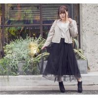 大きいサイズ レディース cletteオリジナル★チュールロングスカート|clette-online|07