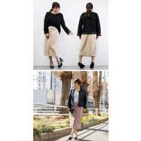 大きいサイズ レディース フロント釦カットスエードタイトスカート|clette-online|06
