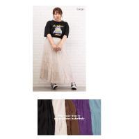 大きいサイズ レディース ティアードロングスカート|clette-online|08