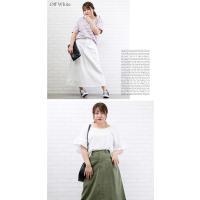 大きいサイズ レディース フロントタックAラインロングスカート|clette-online|07