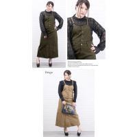 大きいサイズ レディース ツイルサロペットスカート|clette-online|04