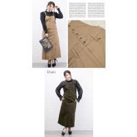 大きいサイズ レディース ツイルサロペットスカート|clette-online|06
