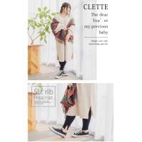 大きいサイズ レディース スリットリブレギンス|clette-online|06